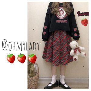 🍓Cute Strawberry Pig Loose Fit Sweatshirt🍓